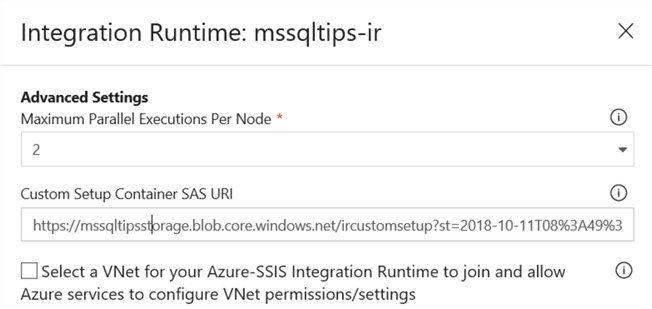 Customized Setup for the Azure-SSIS Integration Runtime