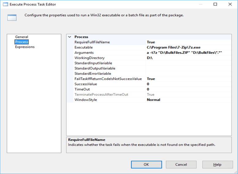 Zip and Unzip files using 7-Zip in SQL Server Integration Services SSIS
