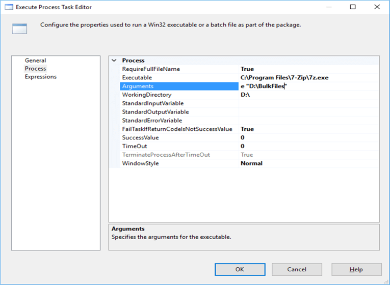 Zip and Unzip files using 7-Zip in SQL Server Integration