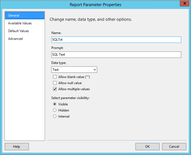 Create Dynamic SSRS Reports Using a Query as an Input Parameter