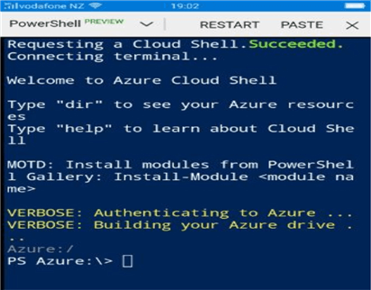 Using the Microsoft Azure Mobile app for remote administration