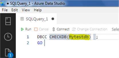 Azure Data Studio snippet 16