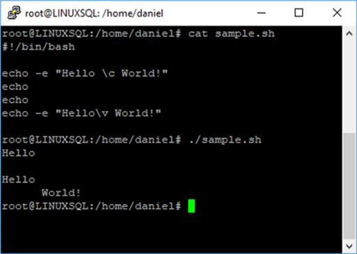 Introduction to Bash Scripting: Display User Messages and