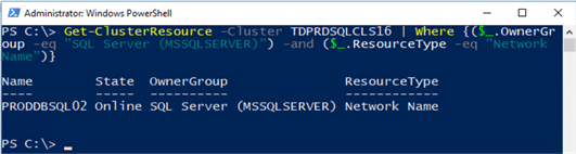 powershell command get cluster resource
