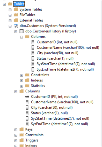 ssms system versioned table