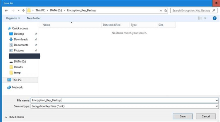 ssrs backup encryption key