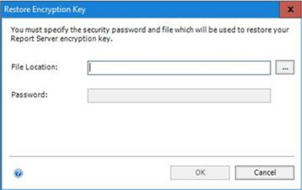 Specify the Location of the Encryption Key along with the Password. Password should be the same as we have specified during it