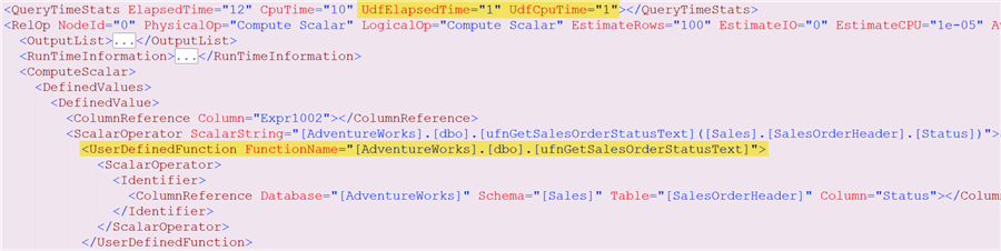 XML before UDF inlining