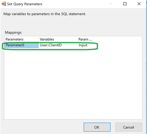 set query parameters