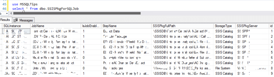 ssis package information