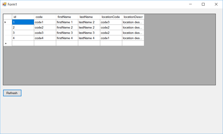 Mapping SQL Server Query Results to a DataGridView in  NET