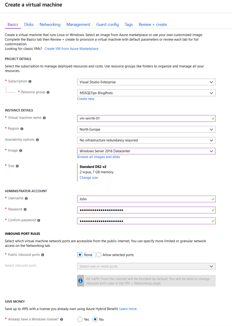 Install DBATools with Azure VM Custom Script Extension – Azure Portal