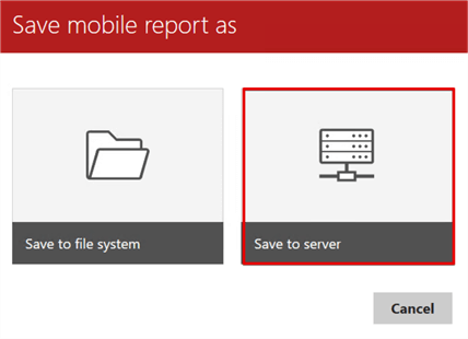 save mobile report