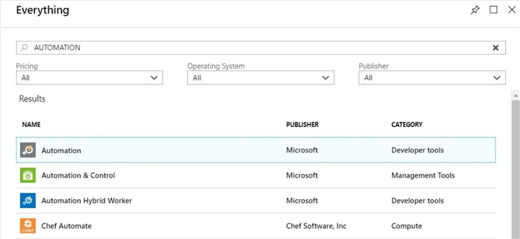 Azure Portal - Add new resource