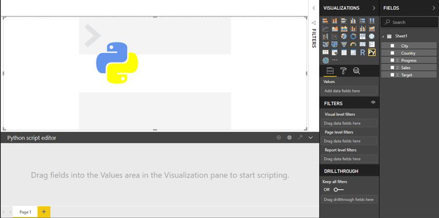 Generate visualizations in Power BI using Python Scripts