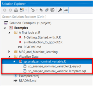 A screenshot of the solution explore tab in visual studio. All project files show up in the tab.