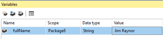 SSIS string variable