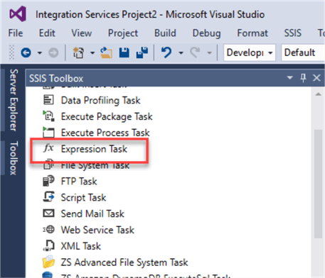 Expression Task in SSIS