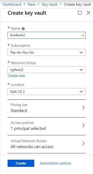 Microsoft Azure Key Vault for Password Management for SQL Server