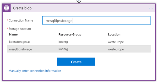Transfer Files from SharePoint To Blob Storage with Azure Logic Apps