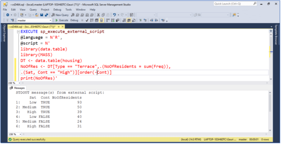 An example to show how having works in data.table on group by and also use of chaining expression using Order function.