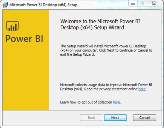 Power BI Desktop install