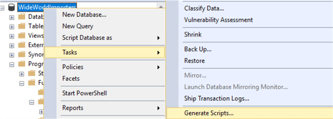 MSSQL-Scripter Tool and Examples to Generate Scripts for SQL