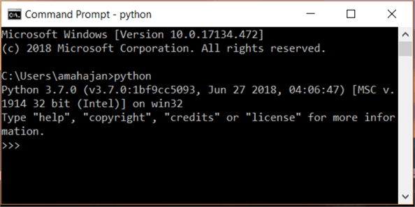 Execute Python in Windows Command Prompt