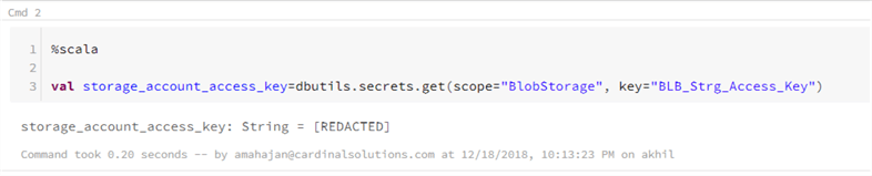 Confirm secret is stored in Databricks