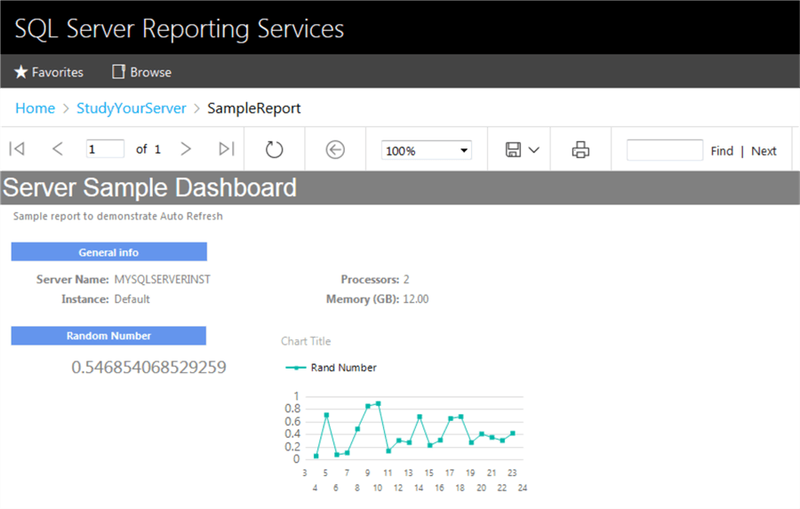 SQL Server Reporting Services SSRS Auto Refresh Report