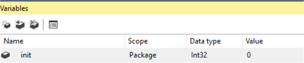 SSIS integer variable