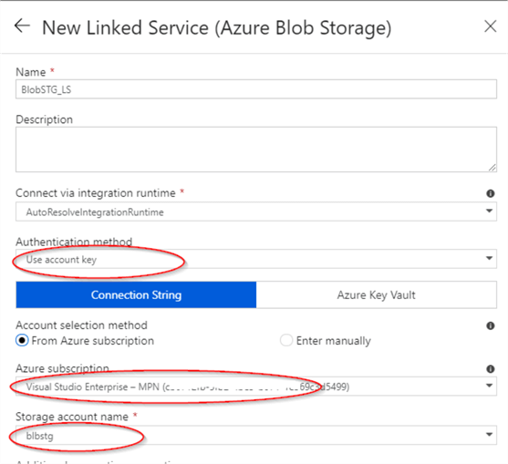 Configure Azure Blog Storage