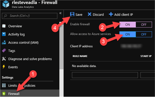 Steps to turn on firewall services
