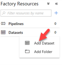 Steps to add a dataset