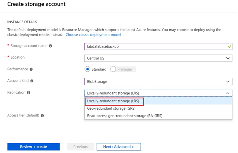 Configure Replication for Storage Account