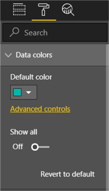 This image shows on how to open Advanced controls window under Data Colors section
