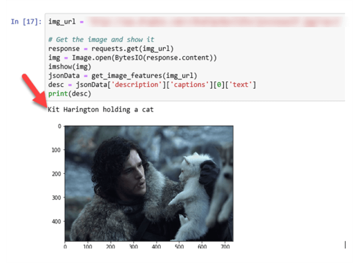 Analyze image with Man holding a wolf.