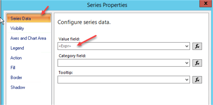 Series Properties - expression as value field