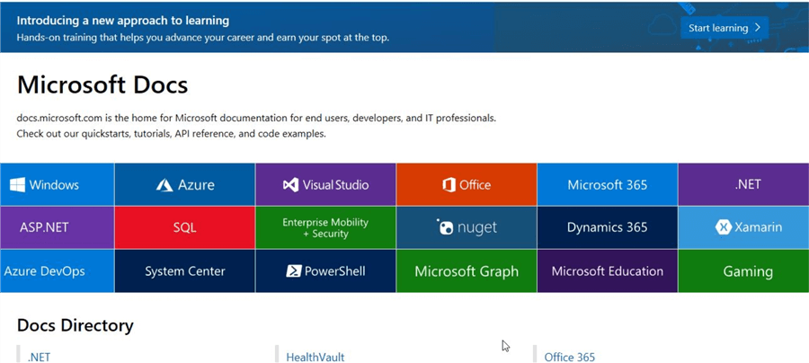 microsoft learn documentation