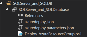 Azure Deploy files will be in the project folder.