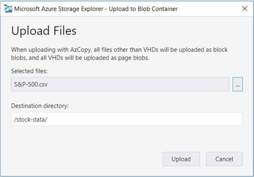 Azure Storage Explorer - Upload files - This action will fail due to security.