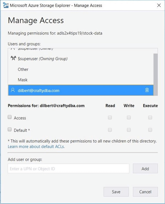 Azure Storage Explorer - UPN Conversion - The application will convert the object id to a UPN name if possible.