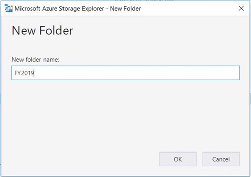 Azure Storage Explorer - New Folder - This action will succeed due to security.