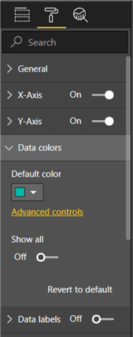Data Color - This image shows on how to select advanced data colors.