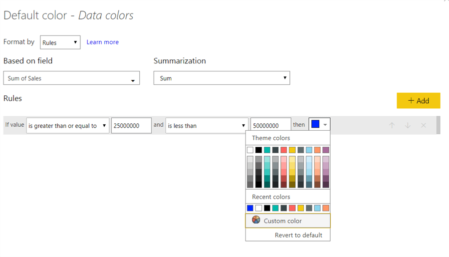 Color Selector - This image shows on how to open the color selector dropdown