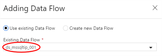 Adding Data Flow using existing data Flow