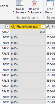 Power Query - splitted column data