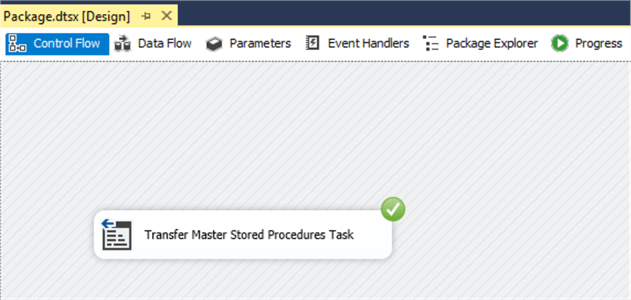 Execute Transfer Master Stored procedure Task