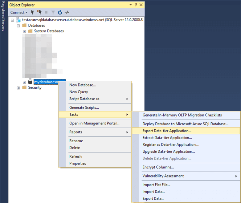Restore Azure SQL Database to Local SQL Server