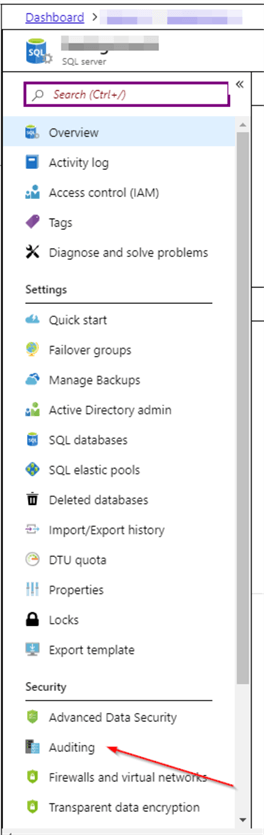 Stop Auditing from the Azure Portal.